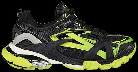 Cheap Balenciaga Track.2 Black Yellow Green
