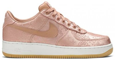 CHEAP NIKE AIR FORCE 1 LOW CLOT ROSE GOLD SILK