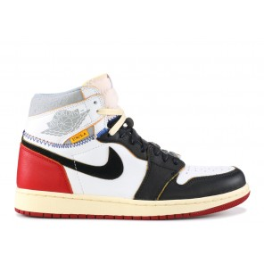 "Cheap AIR JORDAN 1 RETRO HI NRG/UN ""UNION"" BLACK RED"