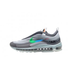 Cheap Off-White X Air Max 97 Grey Blue Sneakers for Sale