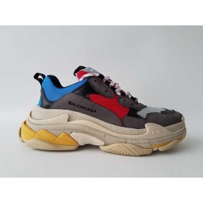 Cheap 2017 Balenciaga Fall/Winter Collections Red Blue Grey Sneakers for Sale