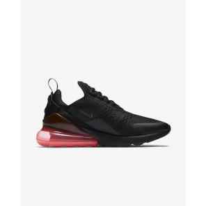 Cheap Air Max 270 Black Sneaker Red Sole Black Logo for Sale Online