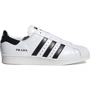 Cheap adidas Superstar Prada White Black