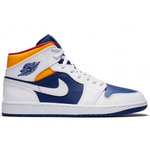 Cheap Air Jordan 1 Mid Royal Blue Laser Orange